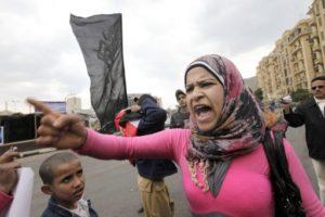 16.03.12 Plac Tahrir, Egipt.Protest przeciw rządowi wojskowemu.
