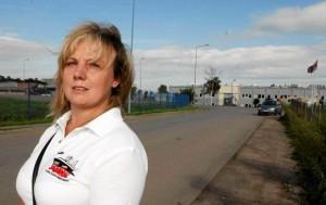 """Izabela Będkowska, przewodnicząca """"Solidarności"""" i liderka strajku okupacyjnego w Bitronie"""