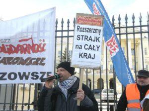 26.03.13 Filip Ilkowski (ZNP) na warszawskiej pikiecie.