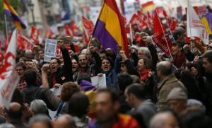 1 Maja w Hiszpanii. 50 tys. protestowało w Madrycie, ponad milion w całym kraju.