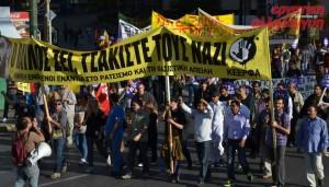 26.10.13 Ateny. Protest przeciw Złotemu Świtowi.