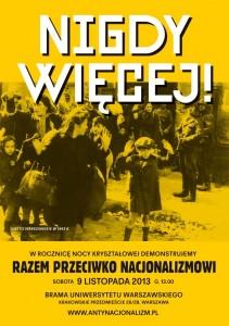 Plakat - Nigdy więcej faszyzmu
