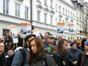 """09.11.13 Warszawa. """"Razem przeciwko nacjonalizmowi""""."""