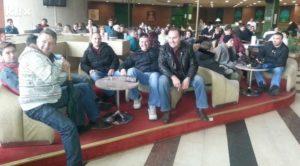 14.02.14 Sarajewo. 140 pracowników strajkuje w hotelu Holiday.