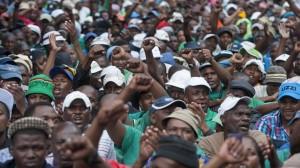 Strajkujący górnicy - RPA