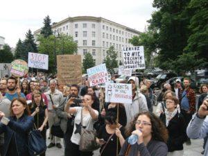 13.06.14 Sejm. Protest przeciw Chazanowi i antykobiecym lekarzom.