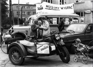 05.1989 Grochów, Warszawa. Kampania wyborcza.