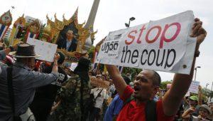 25.05.14 Bangkok. Protest przeciw zamachowi