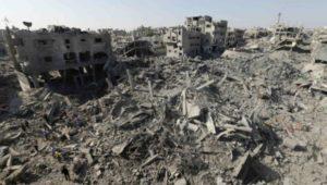 """Ataki Izraela na Gazę zabiły około 2150 Palestyńczyków – według ONZ 70  procent ofiar to cywile. Władze Izraela tą rzezią nic nie osiągnęły – zaskoczone były, że zginęło """"aż"""" 65 izraelskich żołnierzy (i pięciu cywilów w Izraelu)."""