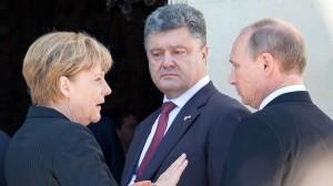 Merkel, Poroszenko i Putin