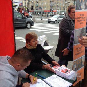 01.10.14 Warszawa. Kampania RSS na Pradze-Południe.