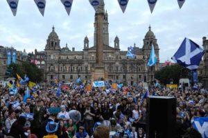 """17.09.14 Glasgow. Kampania na """"tak""""."""