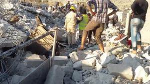 22.09.14 Kfar Daryan. Syria. Po nalotach USA.