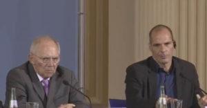 Wolfgang Schäuble i Janis Warufakis