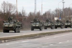 23.03.15 Amerykański konwój wojskowy w Polsce (a dokładniej, w Budzisku).
