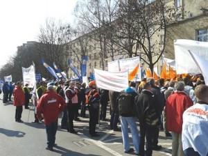 24.03.15 Warszawa. Ogólnopolska demonstracja kolejarzy.