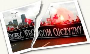 podarte.zdjecie.transparent.faszystowski.smierc.wrogom.ojczyzny.11.11.2015