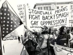 Gejowscy aktywiści z czasu zamieszek Stonewall w czerwcu 1969 r.