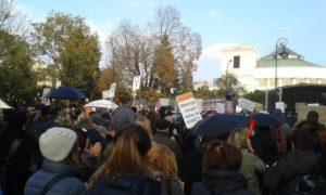 23.10.16 Kolejny czarny protest przed Sejmem.