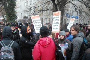 07.11.2015 Warszawa. Demonstracja antyfaszystowska