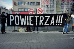 Protest Polskiego Alarmu Smogowego we Wrocławiu.