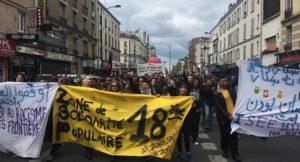 16.04.17 Paryż. Antyfaszystowska demonstracja przeciw Marine Le Pen