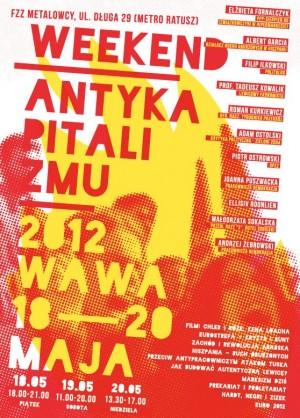 Plakat Weekend Antykapitalizmu 2012