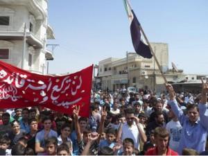 31.08.12 Sermada, Syria. Protest przeciw Asadowi.