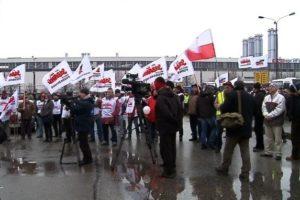 24.02.12 Wcześniejszy protest pracowników Fiata.